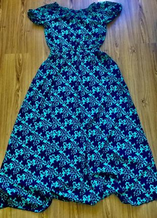 Шикарное шелковое платье в пол батал
