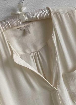 Кремовая блузка springfield, размер s