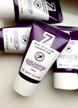 Коллагеновая пенка для умывания may island 7 days secret 4d collagen cleansing foam