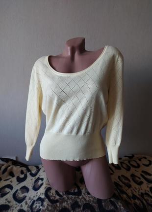 Легенький свитер,реглан,пуловер весна-осень 48-50 размера