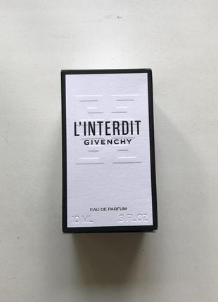 Духи givenchy l'interdit linterdit миниатюра парфюм
