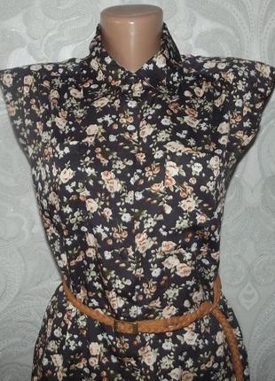 Платье рубашка шифон от uttam london размер на бирках 12 прямого кроя