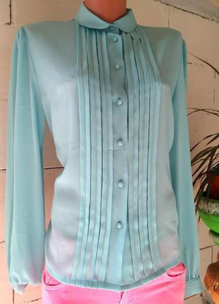 Голубая небесная блузка шифон ! распродажа только  до завтра!