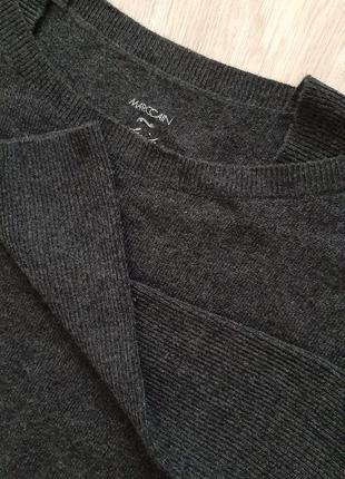 Серый кашемировый свитер marc cain, размер м-l.