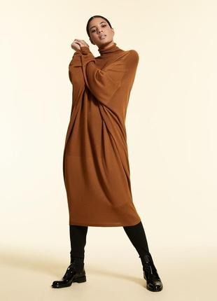Вязаное платье свитер большой размер люкс р.16-18 или 20