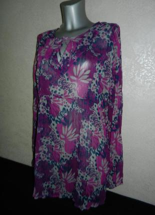 48-50/l-xl*cauenline*италия фиолетовая пляжная туника платье парео новая