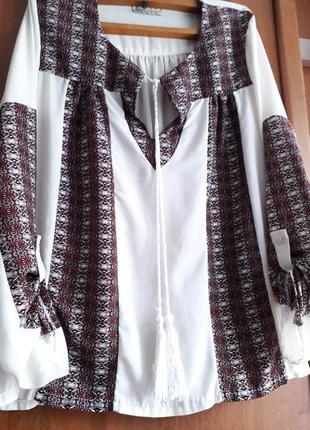 """Блуза """"вышиванка"""" винтаж франция 46 р scarlet roos"""