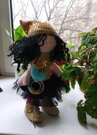 Интерьерная кукла тильда большеножка