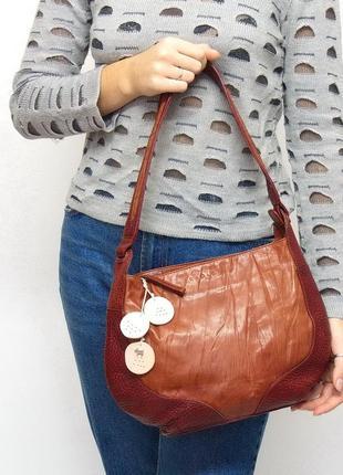Кожаная сумка radley. натуральная кожа.