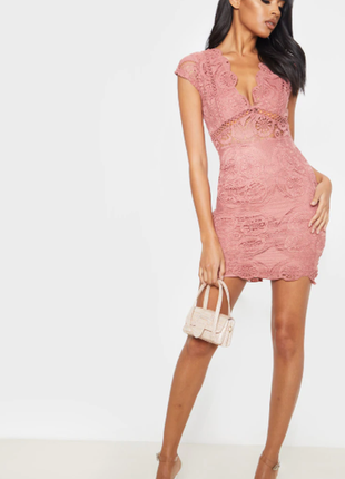 Новое с биркой платье ажурное prettylittlething размер 6