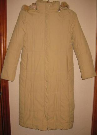 Стеганое зимнее пальто на синтепоне