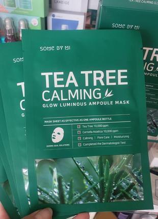 Тканевая маска some by mi tea tree calming glow luminous ampoule mask