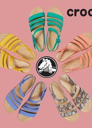 Летние сандалии босоножки кроксы для женщин crocs tulum w9, w10