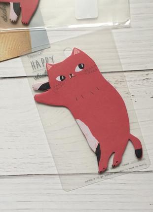 Бумага для записей стикеры notes кот