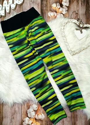 Adidas оригинал! яркие разноцветные лосины, капри на 9-10 лет