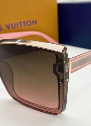 Louis vuitton очки женские солнцезащитные розовые квадраты