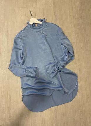 Блуза рубашка атласная