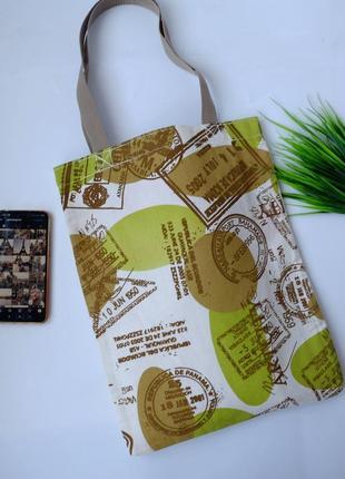 Сумка для покупок с принтом штампов, эко сумка, торба, сумка шоппер 20