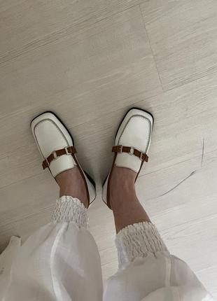 Лоферы туфли весенние кожаные