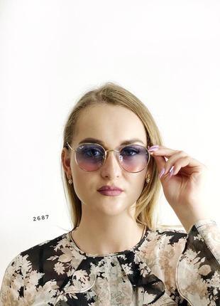 Модні сонцезахисні окуляри рожево - блакитні к. 2687