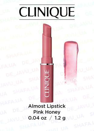 Бальзам помада для губ clinique almost lipstick блеск pink honey