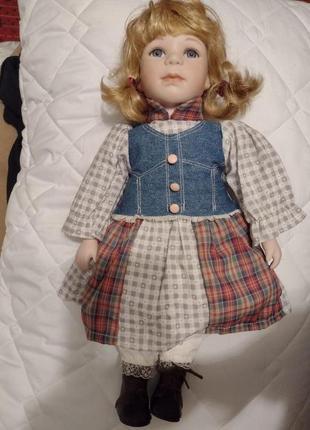 Коллекционная винтажная немецкая кукла 40см в отличном состоянии