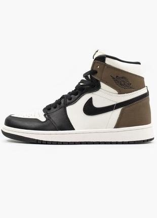 Nike jordan 1 retro high dark mocha🆕 шикарные кроссовки найк🆕купить наложенный платёж