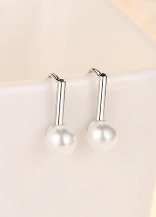 Серьги минимализм серебро 925 / большая распродажа!