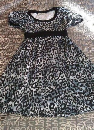 -20% на вторую вещь из моей шафы леопардовое платье-баллон
