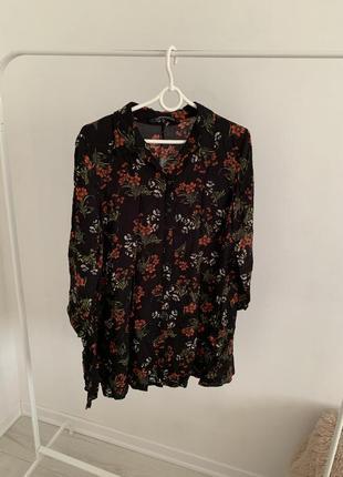 Платья в цветочный принт рубашка