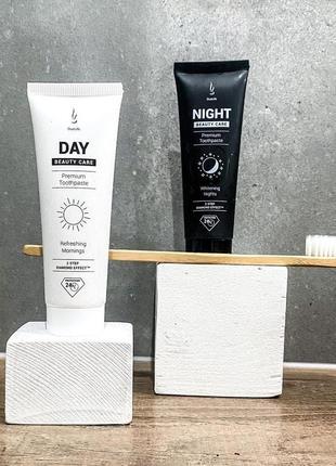 Набор натуральных зубных паст  day & night beauty care
