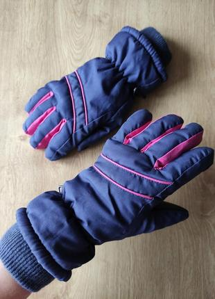 Подростковые спортивные лыжные термо перчатки, германия ,р.5