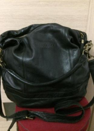 Liebeskind berlin классная большая объемная сумка из натуральной кожи