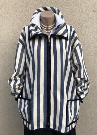 Кардиган в полоску,жакет,пиджак,куртка,большой размер,батал,премиум бренд,этно бохо