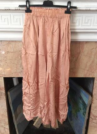 H&m красивая нарядная юбка брюки кюлоты, р.34