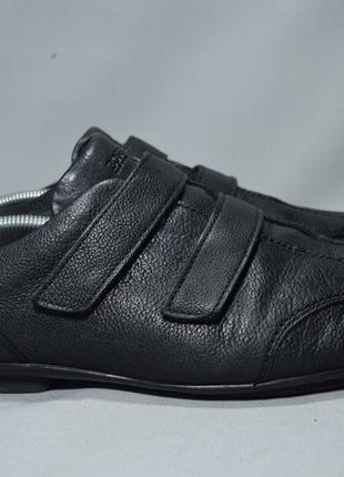 Hugo boss кроссовки туфли мужские кожаные на липучках. индия. оригинал. 46-47 р/32 см