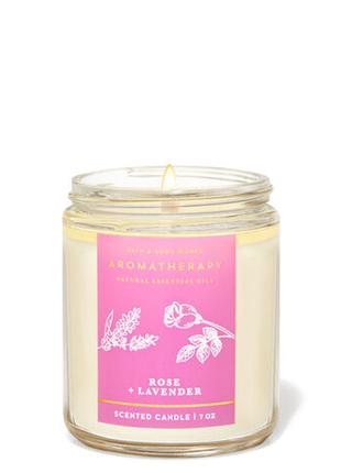 Свеча ароматизированная bath and body works rose and lavender