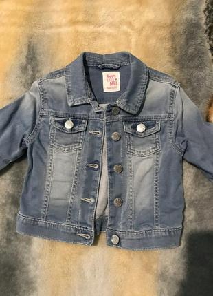 Джинсовая куртка f&f 3 4 года