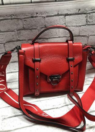 ❤🖤модная стильная кожаная сумка