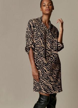 Wallis шикарное платье, новое платье прямого кроя, анималистический принт, с завязками
