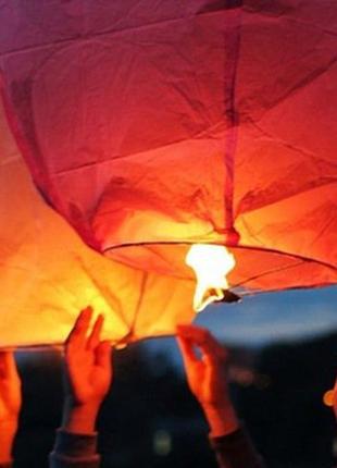 Небесные фонарики 100 шт форма купола, сердца