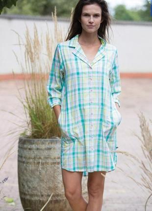 Женское домашнее платье кремового цвета key lnd 453 a21