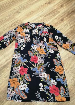 Платье в цветы некст сукня
