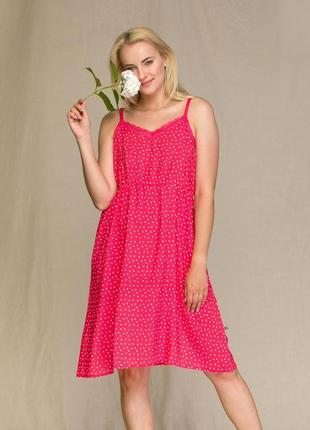 Женское домашнее платье из вискозы малинового цвета key lnd 946 2 a21