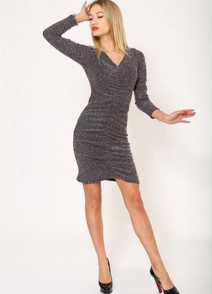 Красиве зручне нарядне приталене плаття , сукня на довгий рукав