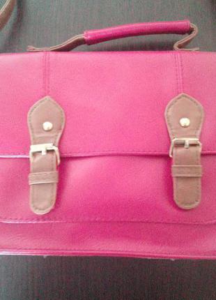 Красная сумка-портфель с длинной ручкой atmosphere