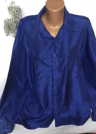 Шикарная воздушная рубашка , шёлк 100%