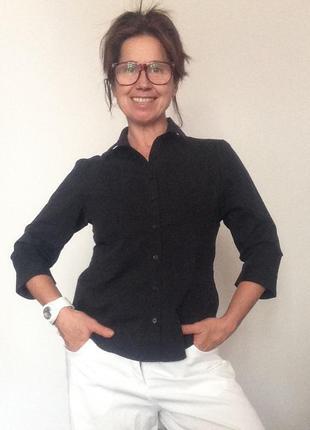 Базовая черная рубашка marks&spencer