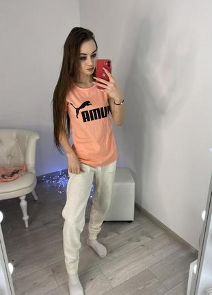 Женская футболка, спортивная футболка, puma, футболка пума
