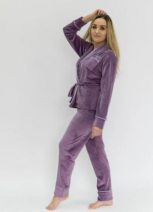 Вишуканий оксамитовий комплект шаль, великий розмір, жакет штани, подарунок